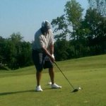 #Browns @HanfordTopDawgD taking a swing at todays golf outing - great time with my former teammates http://t.co/FGRQuPvVpY