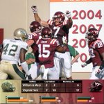 At the half, the #Hokies are up 17-6 on W&M. http://t.co/oMx0Y4SWWt