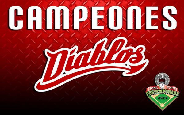 Somos CAMPEONES DEL NORTE 2014! Vamos por la #SerieDelRey MISIÓN 16 @DiablosRojosMX ! RT http://t.co/GjSDacCtdc
