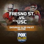 Its been a tough week for the Trojans. How will they respond? Fresno St. vs. #15 USC right now on FOX! http://t.co/8ynMfN30cL