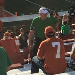 @UNTPrez is forgoing the club seats and sitting with the rest of us. I love this guy. #GMG http://t.co/l7yVtmQBcI