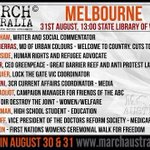 #MarchInAugust - 1pm nice day for it Melbourne. Hope to see some Anti-war placards http://t.co/bdGPcUdamH