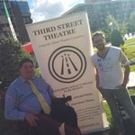 Chilling with @thirdsttheatre at #yycpride. #yyc #yyccentre Check these cool cats out! http://t.co/bVHfHqlQWM
