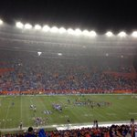"""@aleczeegreat teams on and raining hard again...just call it a """"mud bowl"""" by time its over Go Gators! http://t.co/EorkS58vKA"""