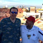 Was able to get @Eddieonfox to laugh despite USC crushing his squad Fresno State in the first half. http://t.co/SkjhqD4fjd