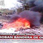 La Plaza [Cerro Porteño] quemando el Telon de La Pandilla (Faccion de La Barra del Olimpia) http://t.co/aESfdQz2gd