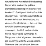 RT @margokingston1: Whats wrong, #Insiders? Via @ajsta by @jayrosen_nyu. Journos as enablers of corrupt politics http://t.co/MWt2tCzwPX http://t.co/Zn2mLrYfXo