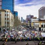 Thousands say NO to Tonys CRUEL ECOCIDAL POLICIES We want a FAIR DECENT INCLUSIVE Australia #MarchInAugust http://t.co/7exkttfUVJ