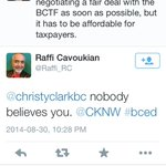 RT @Kathy_Rice: Its bad when Order of Canada recipient & AMAZING childrens singer, @Raffi_RC, calls out @christyclarkbc @CKNW #bced http://t.co/aNjkODoral