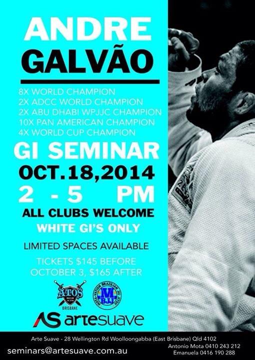 Countdown 4the BIG opening #Brisbane #BJJ #ATOS #ArteSuave #Gym @Galvaobjj seminar #October #Woolloongabba baby! #OSS http://t.co/IZfPHYRqaC