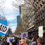 """Walking up Bourke St toward state parliament! ???? """"ABBOTT OUT, ABBOTT OUT!!!!!!!!"""" #MarchInAugust #Melbourne #AusPol http://t.co/Ny3XO4TV4x"""