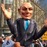 """Tony pants on fire Abbott is at parliament!!! """"ABBOTT OUT, WE WANT ABBOTT OUT!!!"""" #MarchInAugust #Melbourne #AusPol http://t.co/QekXFi5be0"""