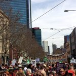 Least 30,000 at state parliament now! stream goes far as eye can see down Bourke St #MarchInAugust #Melbourne #AusPol http://t.co/kngChEpKAg