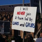 They dont like you much @TonyAbbottMHR @t. They think you suck and there are thousands here #MarchInAugust http://t.co/8EfSzqCoFd