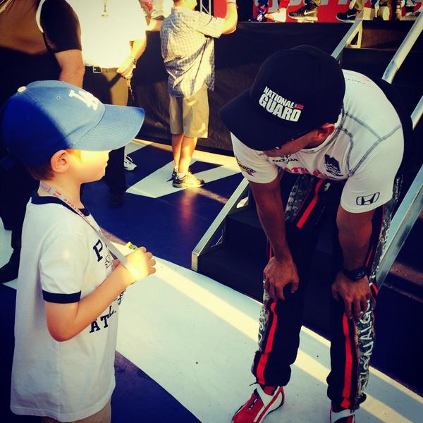 He wanted to meet @GrahamRahal, he said, because his name is Graham, too - #indycar http://t.co/lCnu6AuC1s