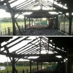 Blackbrook Rugby clubs patio area this morning. Help find the low lifes that did it!!!! RT http://t.co/MfkZAvAch6