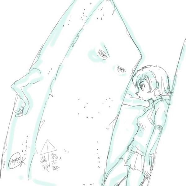 壁ドンが描けるといいらしいので練習する http://t.co/87gWKZPSml