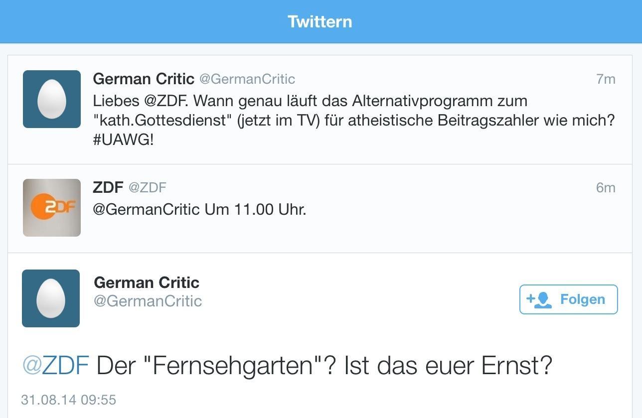 RT @sinnundverstand: :D RT @ZDF: Ein Versuch war's wert... ;-) http://t.co/4Kiy2z07hy