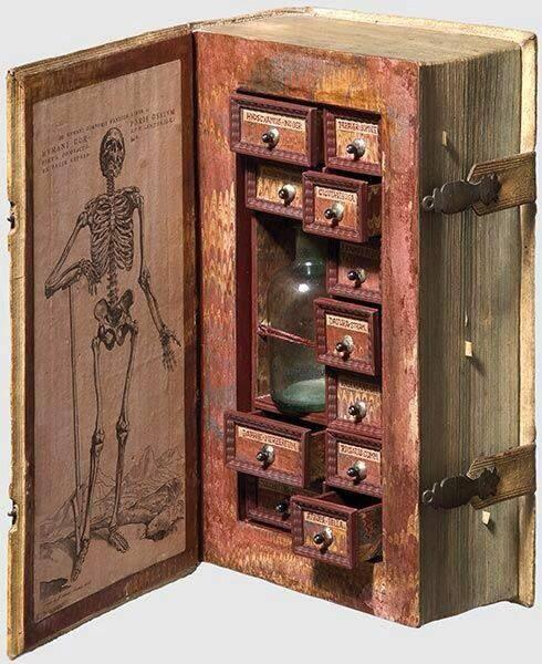 """This is so cool. RT @RexPeretz """"@DrLindseyFitz: 17th-century poison case disguised as a book. http://t.co/Ch6yIjGtuE"""""""