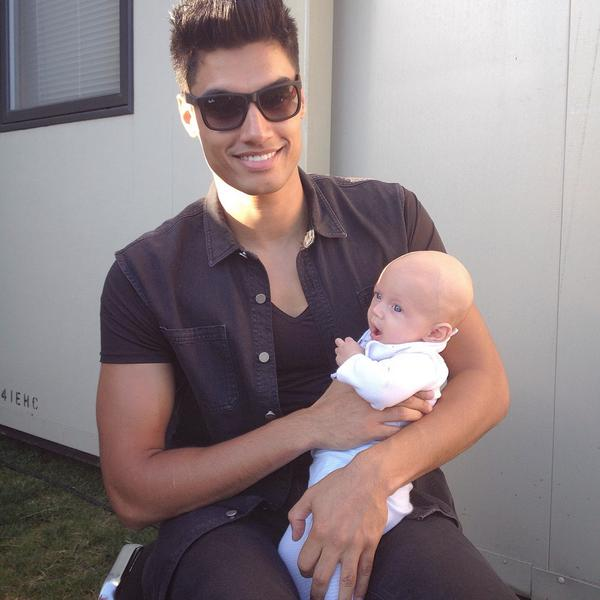Hunter loved meeting @SivaTheWanted earlier today before @thewanted performed at @fusionfest this evening