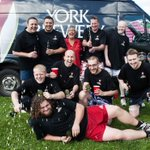 Terrible waste of Guzzler by @YorkBrewery raising money for @SLHYork in #york today. Well done team! http://t.co/9wnyZX6bMq