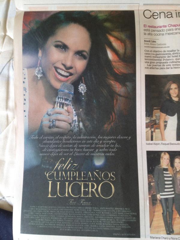 @LuceroMexico Con muchísimo gusto lo hicimos, preciosa! Te mereces lo mejor☺️❤️ http://t.co/HX3a0ik0E1