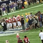 RT @linganorefb: Former Lancer #78 Captain Robby Havenstein of Wisconsin Badgers at coin flip in biggest game in nation yesterday.#WOW http://t.co/mrMqr2oMVD