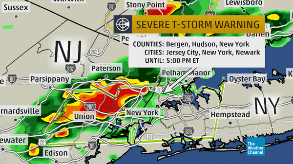 severe thunderstorm warning includes  nyc  dangerous