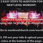 RT @NLC_Worship: Ever thought about trying out for Next Level Worship? Heres 3 easy steps to getting started! http://t.co/WF5Hl4YhSb http://t.co/U6Mfr4JpVn