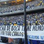 RT @infobae: La hinchada de @BocaJrsOficial rindió homenaje a Bianchi con banderas de apoyo http://t.co/tksbAAU8IV http://t.co/YpVAv8ZycK
