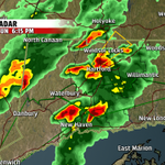 Another round of showers & storms approaching western CT as much of CT deals with thunderstorms now. http://t.co/CnOSOfzq7A