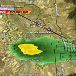 Heavy downpours and pea-sized hail are moving through the Bozeman area this afternoon. http://t.co/Wi1vSED5bR