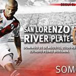 Desde las 21.30, #River visitará a San Lorenzo. Seguilo por @CARPoficial http://t.co/PkFnYFeoCs