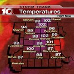 It was downright #HOT in the TX and OK PH today. Records broken, find out where at 10 on @NewsChannel10 #txwx #okwx http://t.co/TsQ2zc9Efi