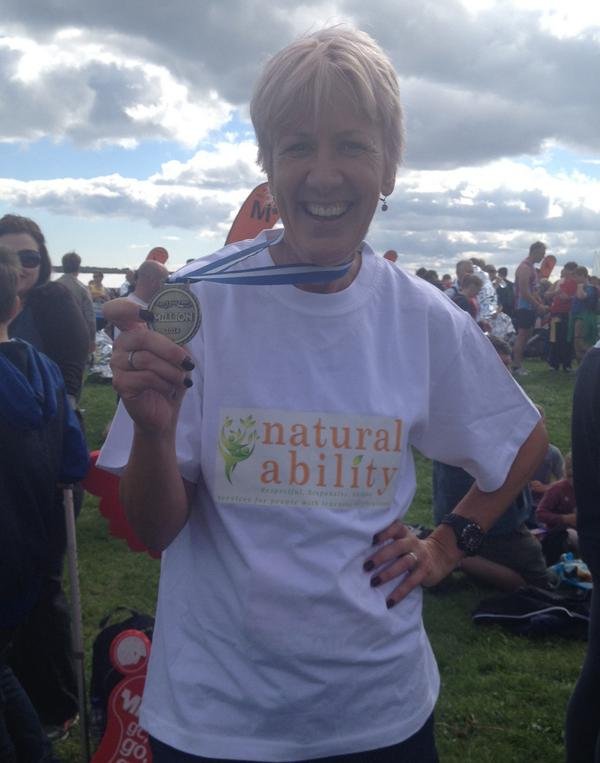 Congratulations Catherine @creativeheadmag running for and raising funds for @_NaturalAbility #GNRMillion http://t.co/XiqVkSLEdj