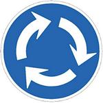 今日(9月1日)から施行された新標識「環状交差点」。既に免許取ってる人の場合、新しい標識が増えても『知りませんでした』じゃ済まないから気をつけないとだよね…w http://t.co/bmi9X4eu0U