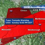 Tornado Warning! Near Worcester Eastward Into Metro West! http://t.co/5rN2Gsl9At