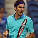 RT @usopen: Roger rolls! #Federer seals round of 16 spot with forehand winner over #Granollers 4-6, 6-1, 6-1, 6-1. #usopen http://t.co/JaBtM3qQNa