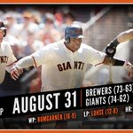 RT @SFGiants: RECAP: @KFP48 homers, drives in 3 as #SFGiants put 15 runs on the board & sweep Brewers: http://t.co/izKs8zXofw http://t.co/VgRRN4St4Q