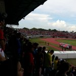 Tribuna techada del Estadio Jose Antonio Paez durante el partido @Portuguesa_FC 1 - 2 @Zulia_FC. Mix 92.7 FM presente http://t.co/P4LOZVXcVI