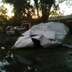 Aftermath of earlier #severe in NW Iowa RT @SCJMichelleK: Shed (?) after Sergeant Bluff storm @scj #suxweather http://t.co/IZClGWfyfs