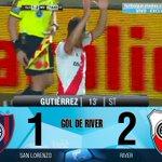 Gol de River: Gutiérrez 13 ST.: San Lorenzo 1 – River 2. Miralo en vivo por http://t.co/utMTheWPFd http://t.co/iSioFCFOKK