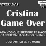 RT @MartinMilanese: #SeguridadSegunCris #SeguridadSegunCris #SeguridadSegunCris #SeguridadSegunCris #SeguridadSegunCris CFK GAME OVER !!! http://t.co/16pgPrCSUq