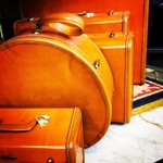 1940s luggage set in the Haights greatest thrift store, @decadesofashion #sf http://t.co/IWexX7YQfp