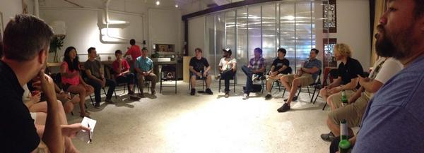 Here with @joyce and a bunch of geeks learning about @stellarog and @bitcoin http://t.co/nmmxOPPwKq