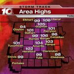 The hottest day of #2014 in #Amarillo today, with a #record of 104. #Borger set a record with 106. #txwx #okwx #hot http://t.co/weHFmFB5th