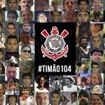 RT @Corinthians: O melhor presente de aniversário é a Fiel. Bando de loucos, obrigado por tudo! #Timão104 #Corinthians104Anos http://t.co/slQ8u87X2G