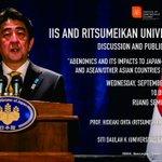RT @JogjaUpdateCom: #jogja @IIS_UGM: 3/9/14 10.00-12.00 IIS-Ritsumeikan University discussion on Abenomics di Seminar Timur Fisipol   http://t.co/DJNo5BHf4W
