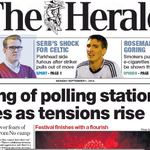 RT @NewsnetScotland: The Herald sinks to new low by headlining desperate claims of voter carnage by No camp #indyref Shame on them both http://t.co/50msAWjWeV