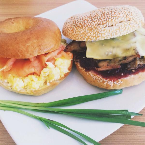 Our two newest stars! Chicken Cranberry bagelwich & Scrambled Eggs Salmon baglewich http://t.co/KtkZUJNoXk